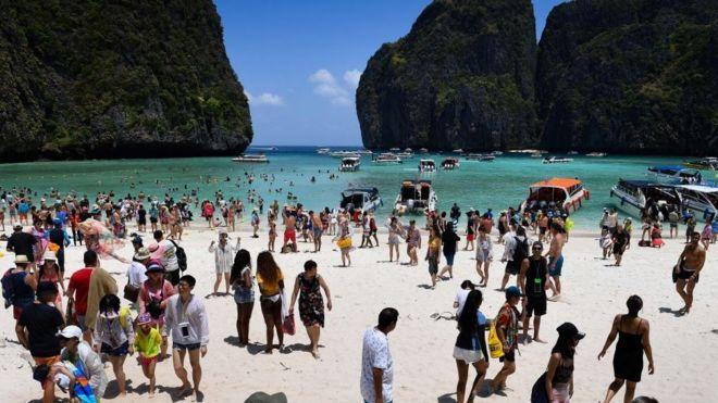 Maya Bay crowded