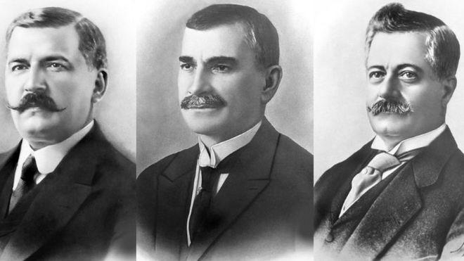 Wenceslau Braz, Delfim Moreira e Epitácio Pessoa