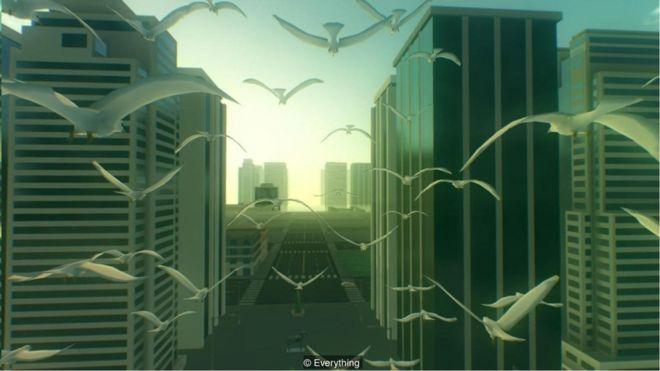 """舒缓情绪的电子游戏《天下万物》被视为令人愉悦的 """"角色扩张""""。"""