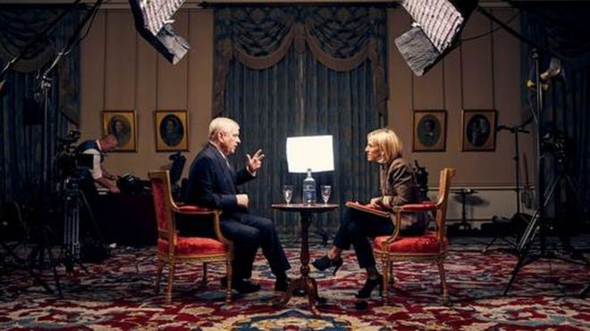Prince Andrew speaks to the BBC's Emily Maitlis
