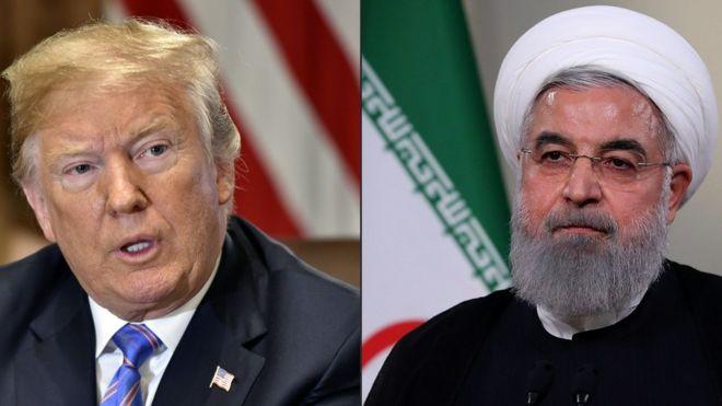 حسن روحانی - دونالد ترامپ