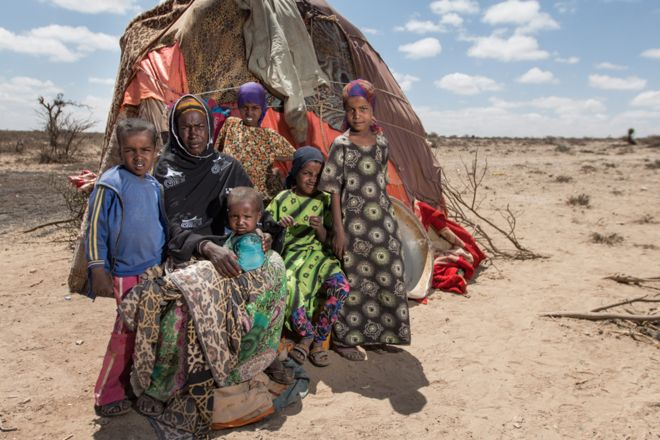 Haali Noor left the drought-effected area in the east of Somaliland with her five children and a small number of remaining livestock and settled in the western area of near Dilla,
