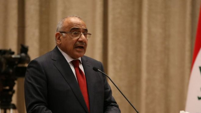 Iraq's PM picks five ministers from online applications _104230599_17867952-1eda-441d-a1eb-1f8e764275eb