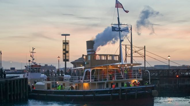Historic tug boat unveiled after £3 8m restoration - BBC News