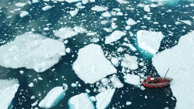 Taljenje ledu na Grenlandiji