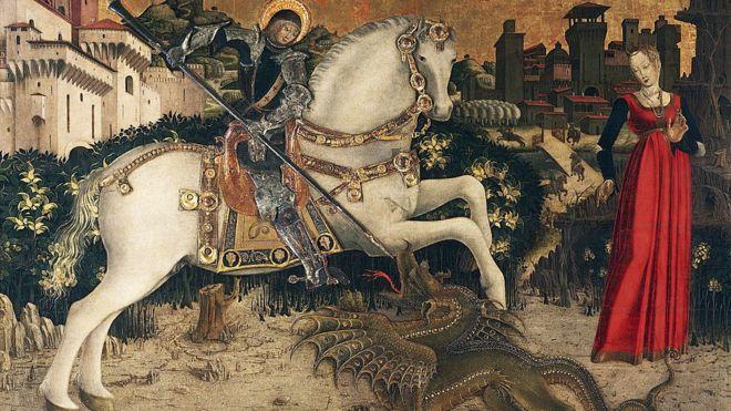 San Jorge y la princesa, finales del siglo XV, atribuido a Antonio Cicognara