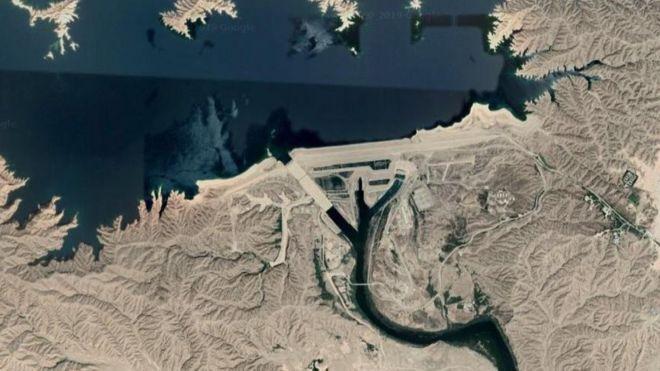 تصویر ماهوارهای دهانه سد کرخه