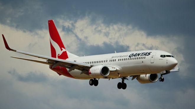 Big Qantas plane
