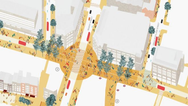 London Oxford Street 150m Improvements Plans Unveiled Bbc News