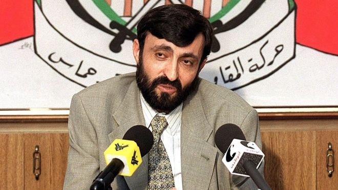 File photo from 23 September 1999 showing Imad al-Alami at a news conference in Beirut, Lebanon