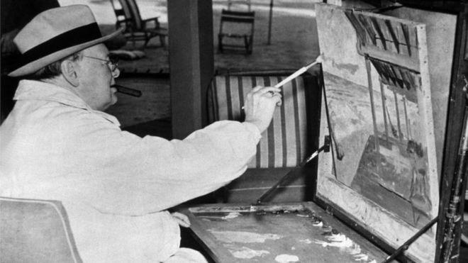 b61b70df2c54f Sir Winston Churchill s paintings to go on display at Blenheim ...