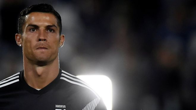 Cristiano Ronaldo playing for Juventus