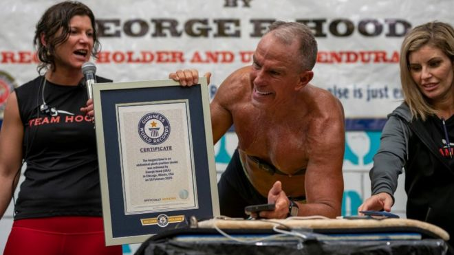 Hood after breaking the Guinness World Record