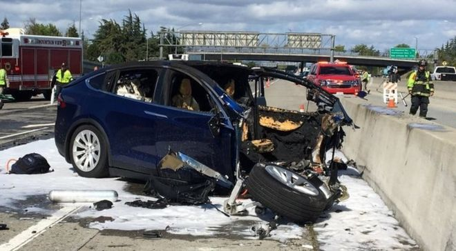 tesla removed from fatal car crash probe bbc news