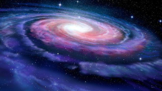 Ilustração da Via Láctea