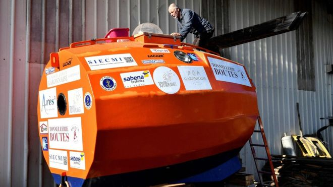 jean jacques savin frenchman sets off to cross atlantic in a barrel