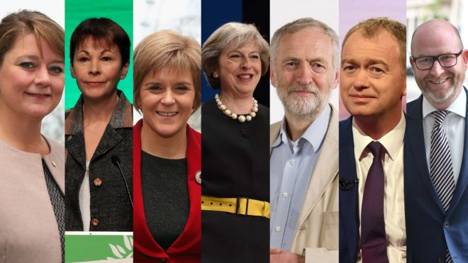 Image result for general election 2017 seven parties