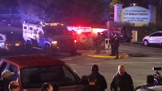 موقع حادث إطلاق نار في كاليفورنيا