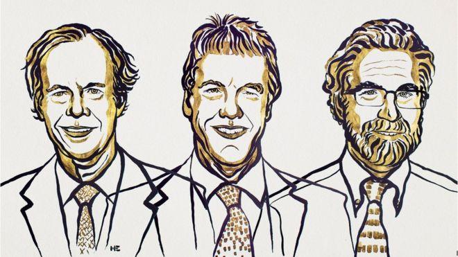 Слева направо: Уильям Келин, Питер Рэтклифф и Грег Семенца
