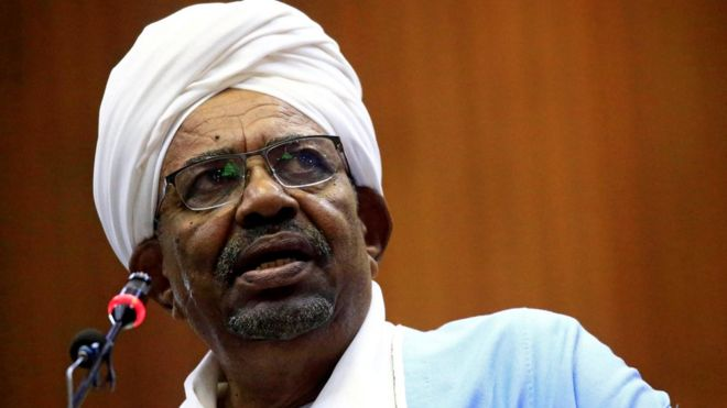 Omar al-Bashir: Will genocide charge against Sudan's ex-president stick? _110894570_hi059882528