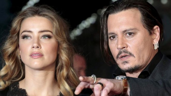 Wondrous Johnny Depp And Amber Heard In Marriage Split Bbc News Hairstyle Inspiration Daily Dogsangcom
