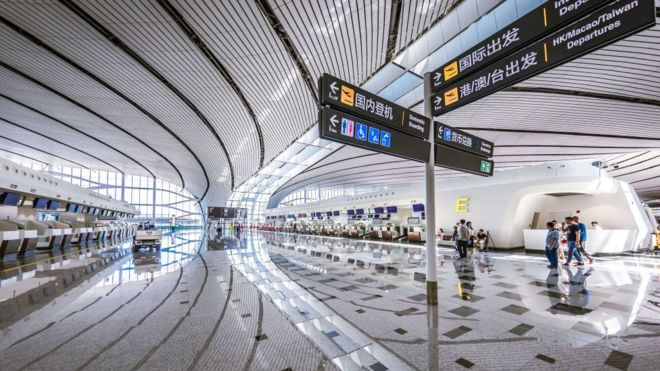 Image result for China's largest new starfish airport opening