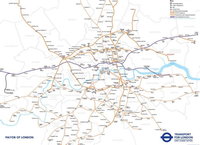 Transport For London Map.Map Reveals Mayor S London Overground Rail Takeover Plan Bbc News