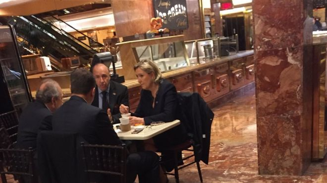 Marine Le Pen in Trump Tower