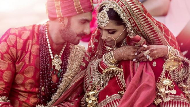 Deepika Padukone and Ranveer Singh: India celebrates Bollywood