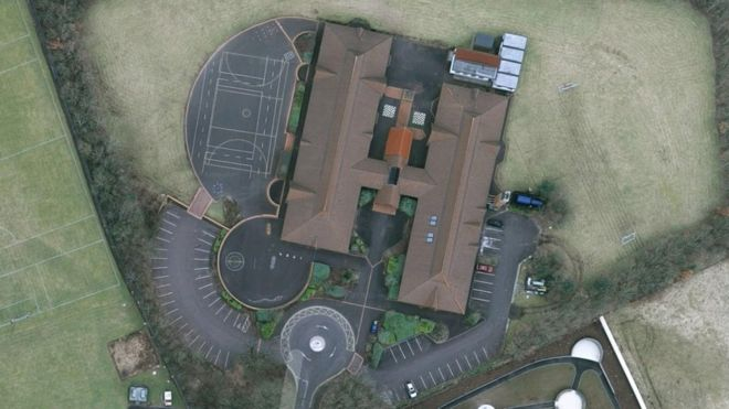 Aerial shot of St Ronan's PS