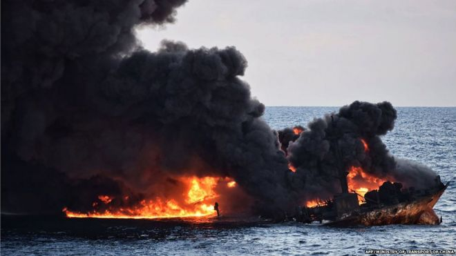 'Fishing continued' after East China sea oil spill thumbnail