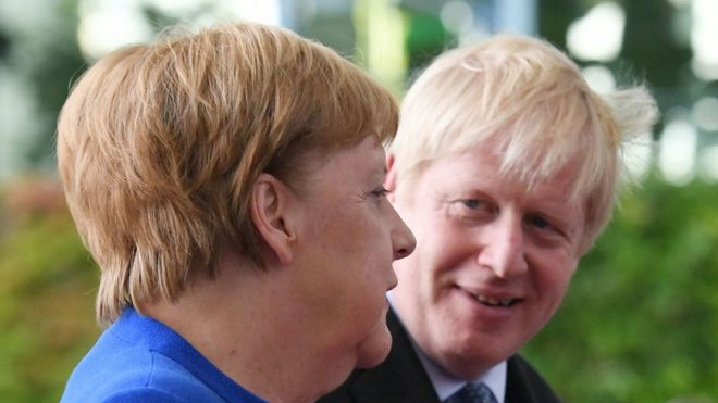 Angela Merkel and Boris Johnson
