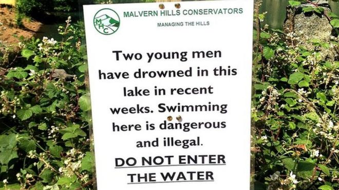 Malvern Hills Gullet Quarry swimmers face £100 fines - BBC News