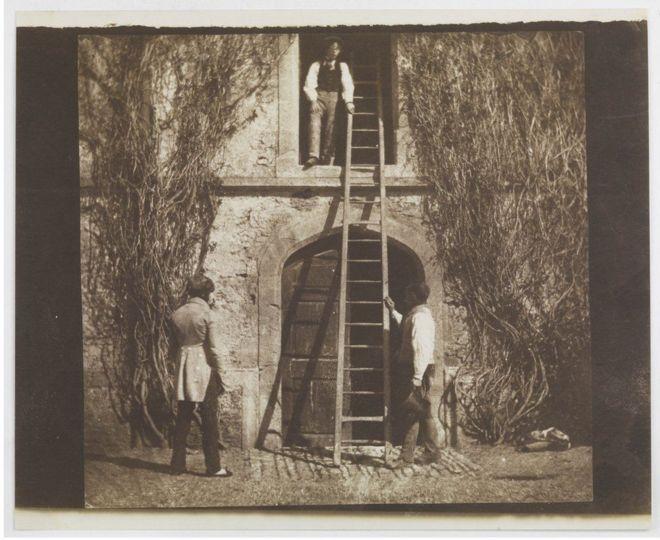 """صورة """"السلم الخشبي""""، أبريل/ نيسان 1844"""