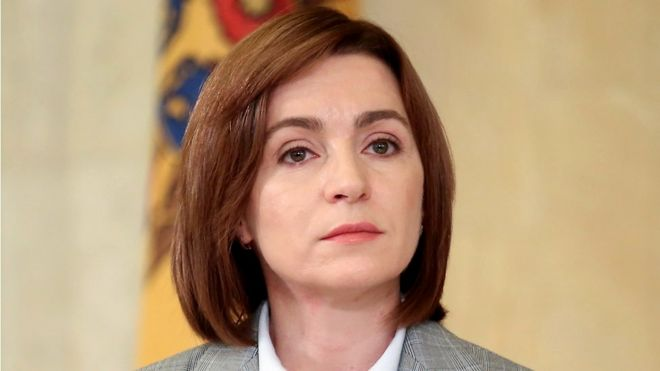 Moldovan President-elect Maia Sandu attends a news conference in Chisinau, Moldova, November 30, 2020