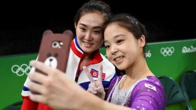 2016年奧運會期間朝鮮和韓國運動員字拍