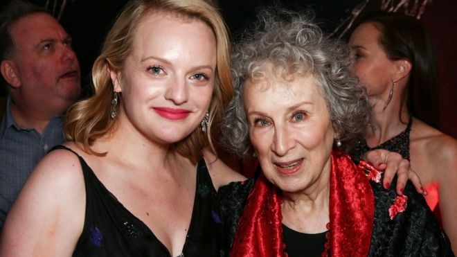 Elisabeth Moss with Margaret Atwood
