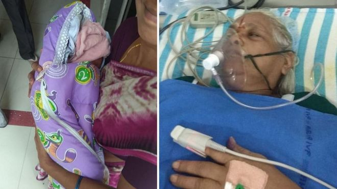 Peachy Indian Woman 73 Gives Birth To Twin Girls Bbc News Download Free Architecture Designs Grimeyleaguecom