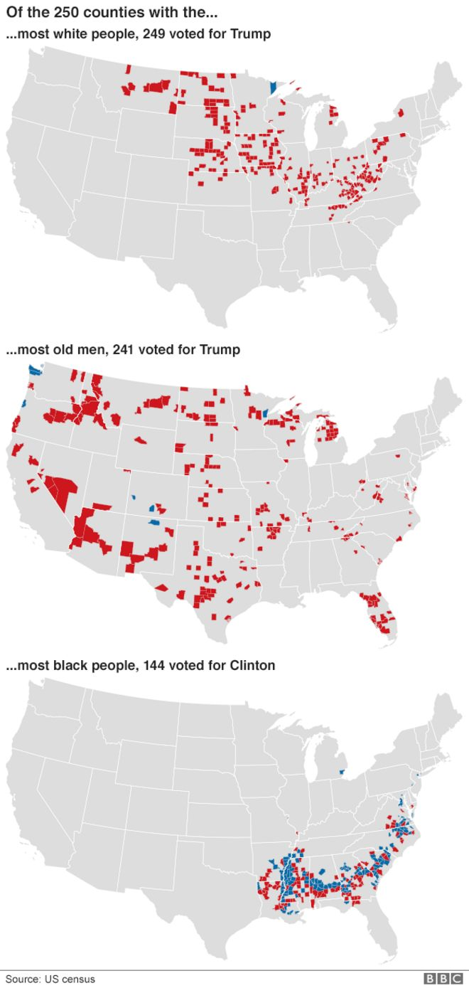 US Election Trump Victory In Maps BBC News - Us electorral map