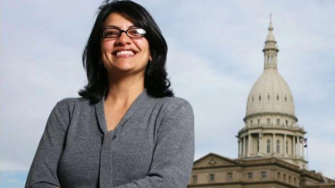 رشيدة طليب أول عربية مسلمة تدخل الكونغرس الأمريكي