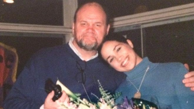 Thomas W Markle with his daughter Meghan Markle. Thomas W Markle is the father of the actress Meghan Markle