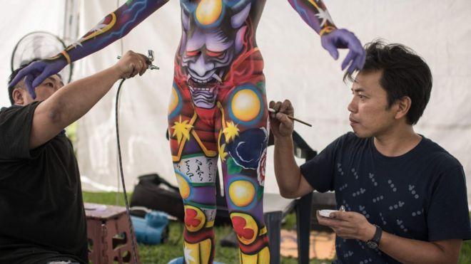 фестиваль боді-арту в Тегу