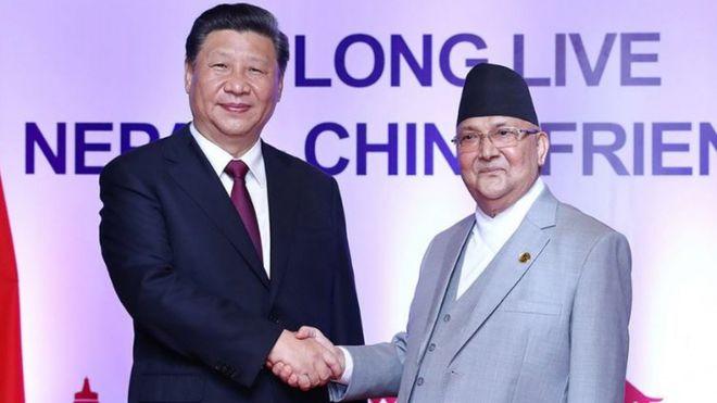 習近平訪問尼泊爾會見尼泊爾總理奧利