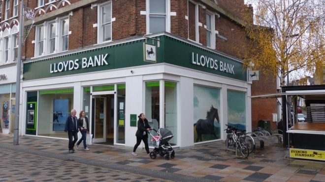 Lloyds bank to abolish charges for unplanned overdrafts bbc news lloyds bank branch colourmoves