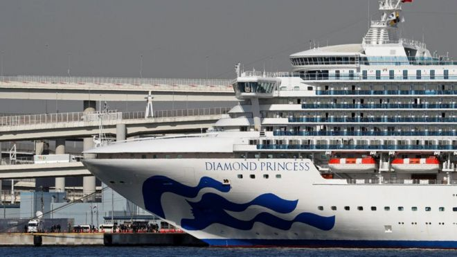 Diamond Princess in the Yokohama port