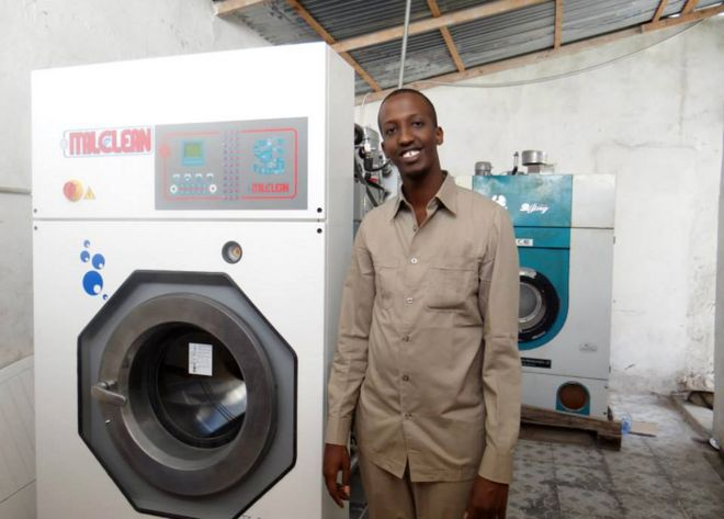 Mourning my friend mohamed the dry cleaner of mogadishu bbc news mohamed mahamoud sheikh with a dry cleaning machine solutioingenieria Choice Image