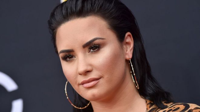 06445a23ebf Demi Lovato says she s  not sober anymore  on new single - BBC News