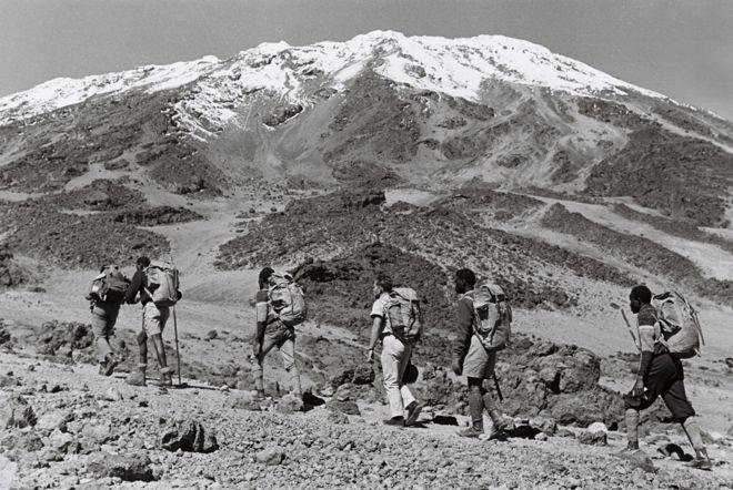 Trek participants at Mount Kilimanjaro