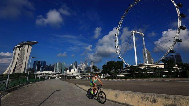 Biciklista u Singapuru