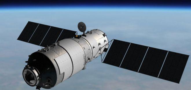 Ilustração da estação espacial chineses